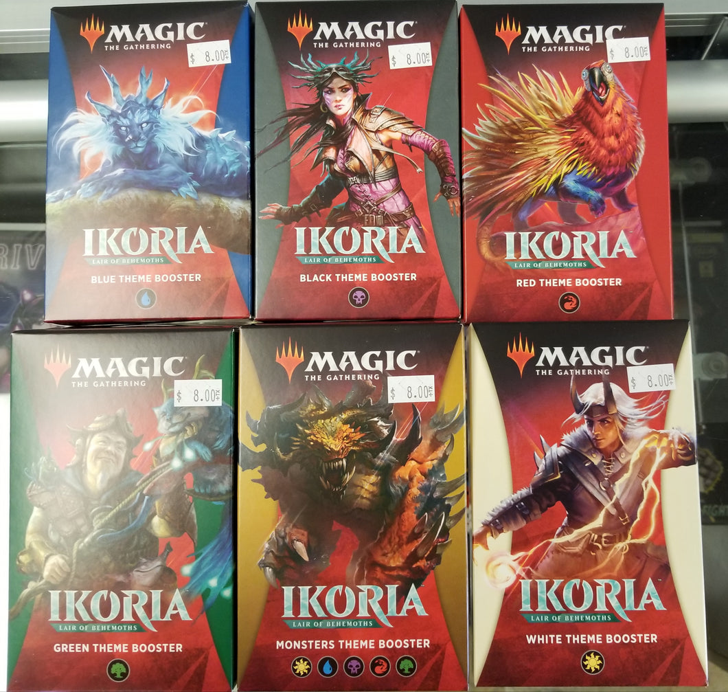 Magic the Gathering Ikoria Lair of Behemoths Theme Booster Set of 6