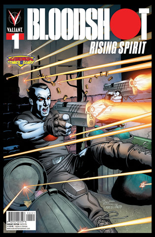 Valiant Bloodshot Rising Spirit #1 Josh Adams/Legends Comics and Games Variant