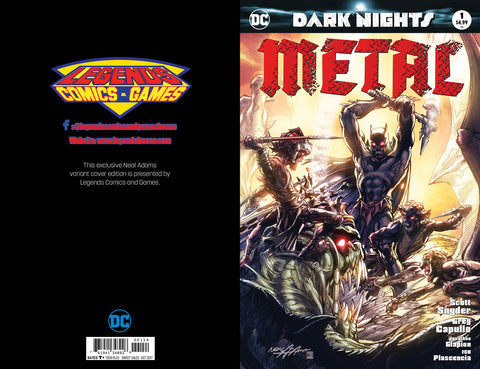 DC Dark Nights Metal #1 Neal Adams/Legends Comics and Games Variant