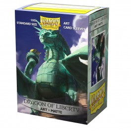Dragon Shield 100CT Pack Matte Art Dragon of Liberty Standard Sleeves