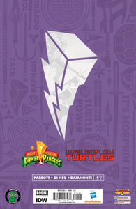 Mighty Morphin Power Rangers/Teenage Mutant Ninja Turtles #1 Blue Ranger/Donatello