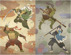 Mighty Morphin Power Rangers/TMNT #1 Jolzar/Legends Variant Set
