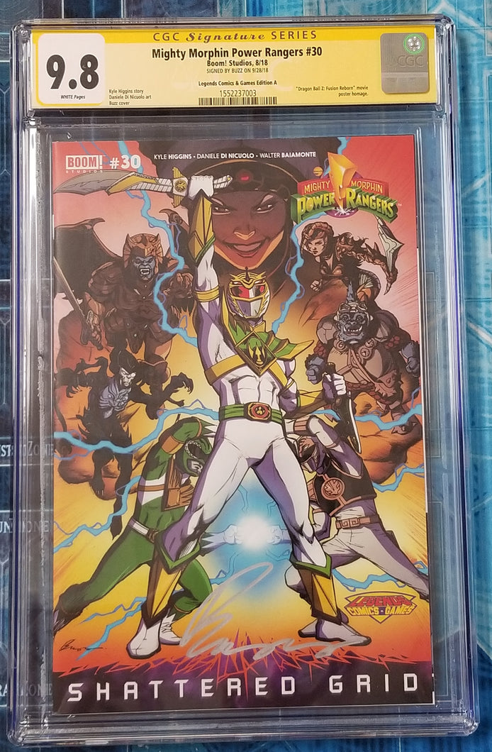 CGC SS 9.8 Mighty Morphin Power Rangers #30 Buzz/Legends Variant Dragon Ball Z
