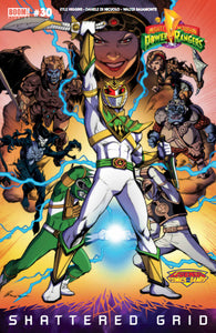 Boom! Mighty Morphin Power Rangers: SG #30 - Legends Comics & Games Fresno Exclusive Variant (DBZ FUSION HOMAGE)