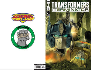 Transformers vs Terminator #1 Diego Galindo Exclusive Variant