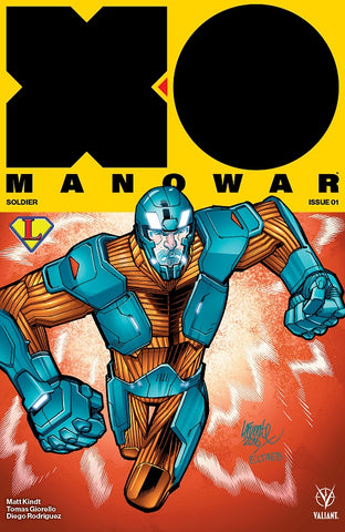 Valiant X-O Manowar #1 David LaFluente/Legends Comics and Games Exclusive Variant