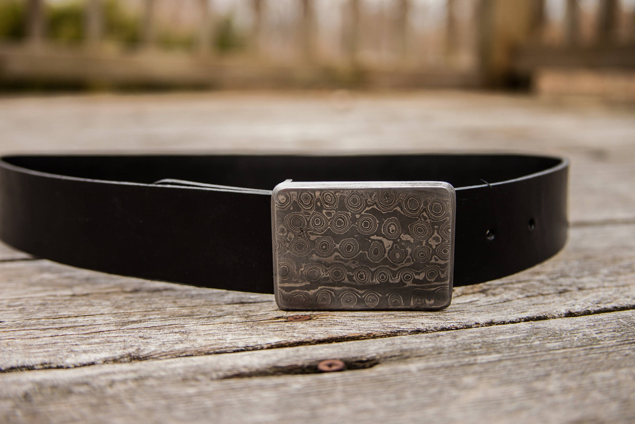 2d41091fe2 ... 32 - 52 Inch Waist Hand Made Mens Custom Black Leather Belt Hand Forged  Durable Damascus ...
