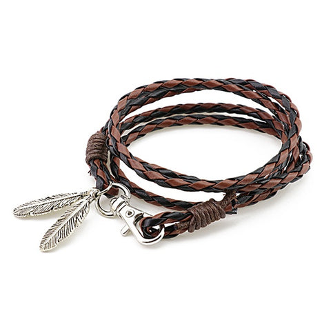 Braided Feather Bracelet