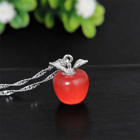 Teacher's Apple Pendant Necklace