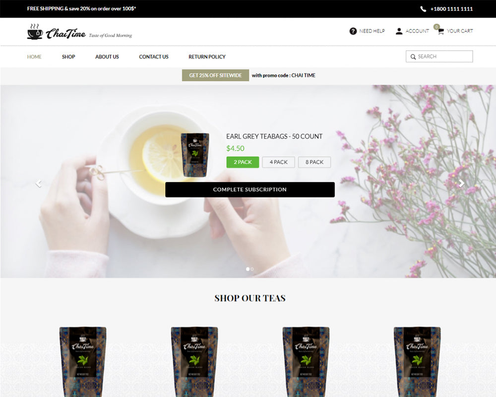 Chai Time - Coffee & Tea Premium Shopify Theme