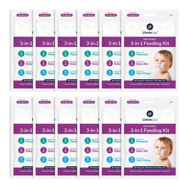 3-in-1 Disposable Feeding Kits, 12 pack