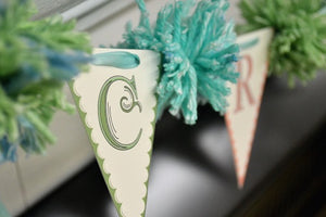 DIY Pennant and Pom Pom Bunting - Craft Room Banner