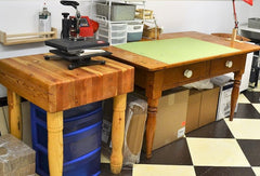 Image of Craft Room Vinyl Weeding Table - Craft Room Remodel