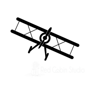 Bi-Plane SVG Digital Download - Bi-Plane Cut File - Little Boy SVG - Airplane SVG