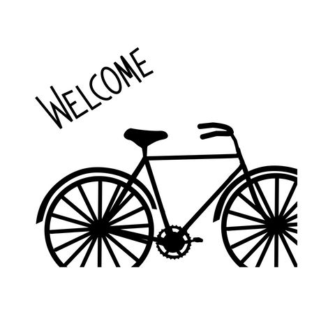 Doormat Welcome SVG - Bike Welcome Mat - Digital Download - Bike SVG
