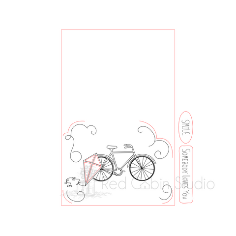 Bike and Kite SVG Digital Download - Bike Cut File - Kite SVG