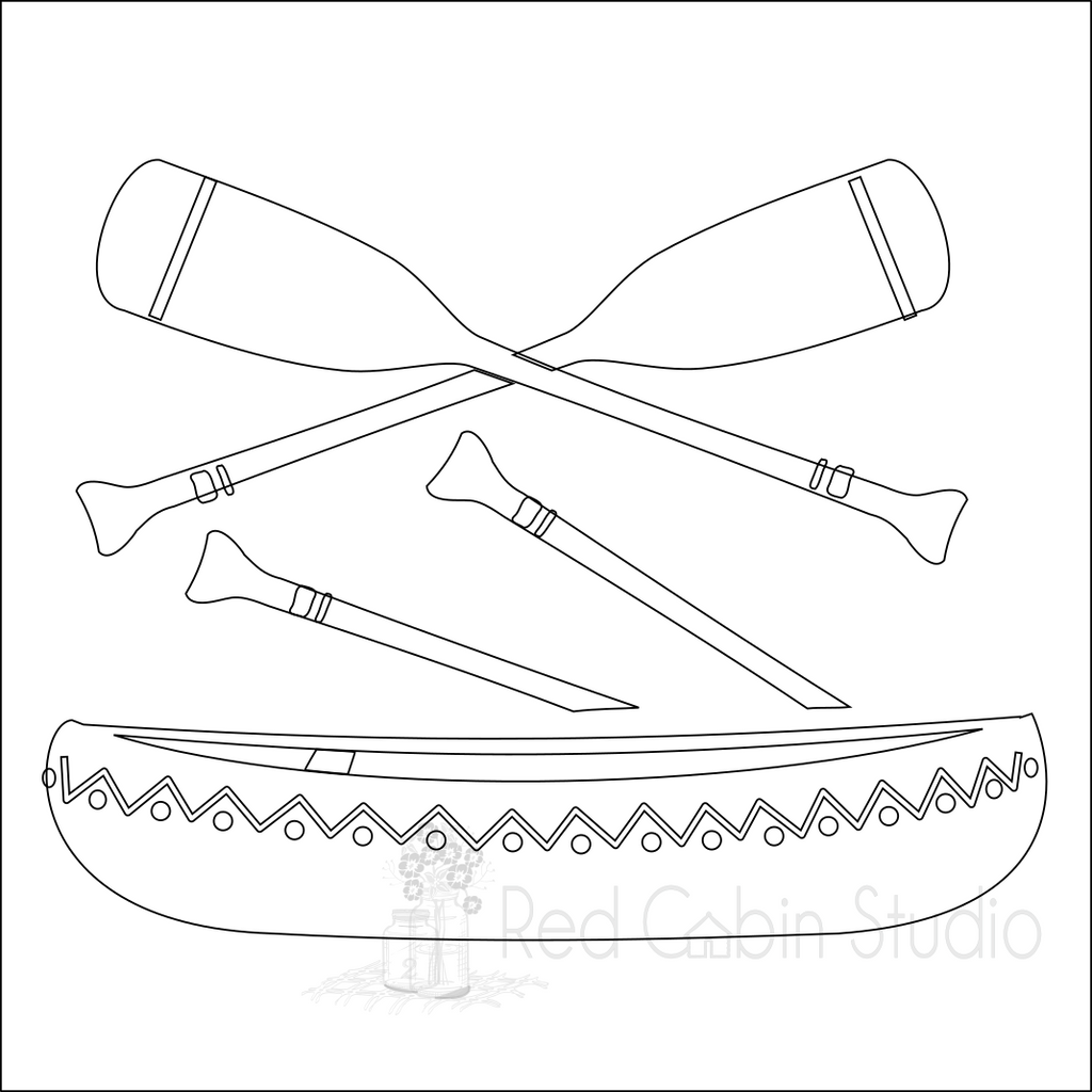 Canoe And Paddles SVG Digital Download