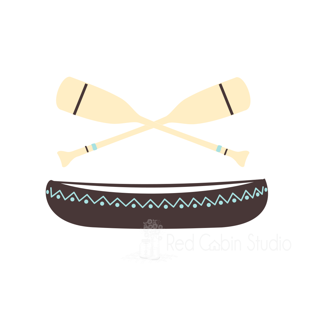 Canoe and Paddles SVG Digital Download - Canoe and Paddles Cut File