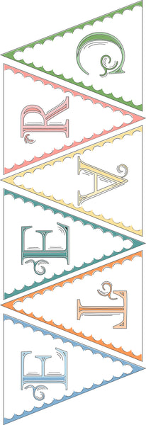 CREATE Pennant File - DIY Pennant Bunting - Craft Room Pennants File - Digital Download