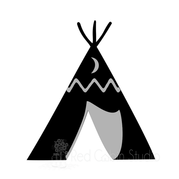 TeePee SVG Digital Download - TeePee Cut File - Little Boy or Girl SVG - Camping SVG