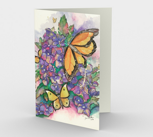 Butterfly Garden Stationery Card