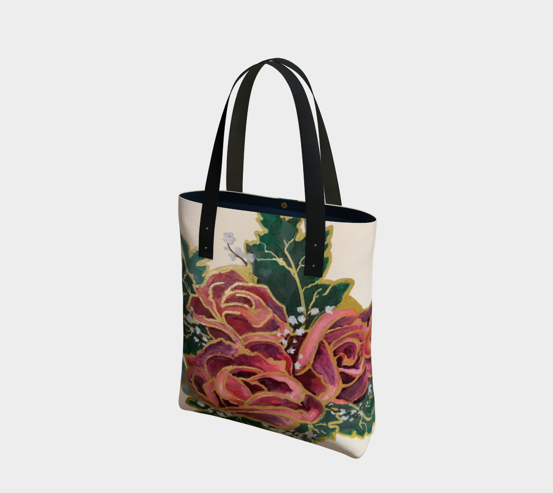 Roses Canvas Tote