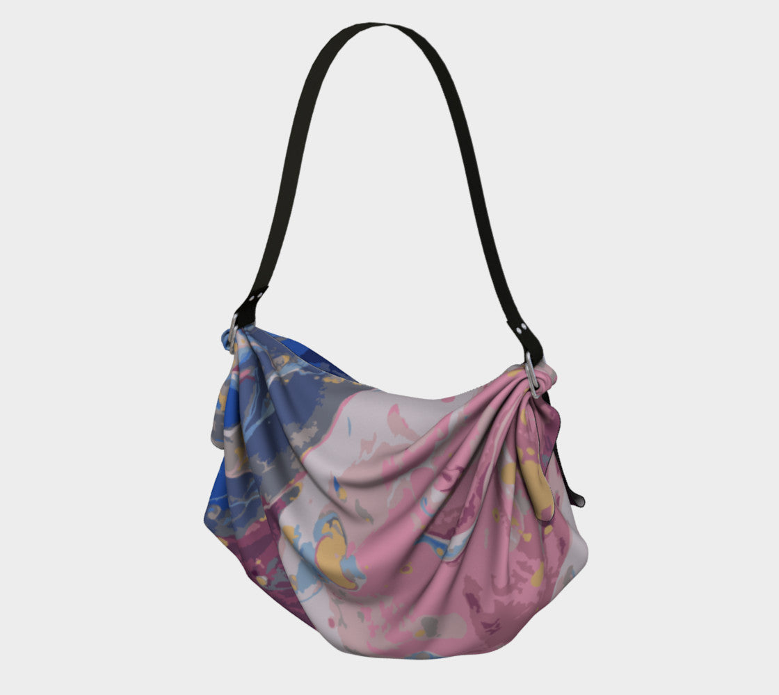 Oceanscape Marbled Origami Tote