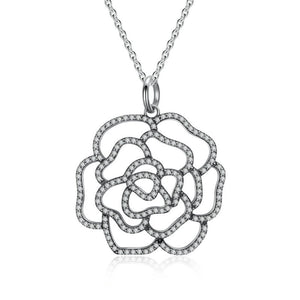 Glittering Rose Necklace