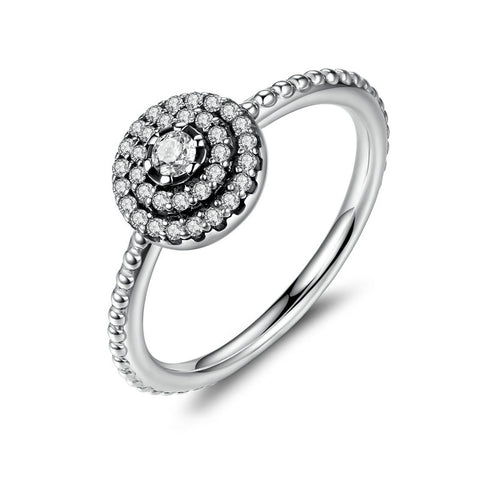 Glamour Round Flower Ring