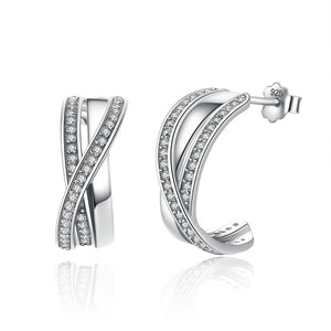 Clear CZ Stud Earrings