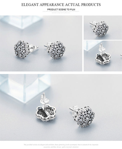 Geometric Snowflake Flower Stud Earrings