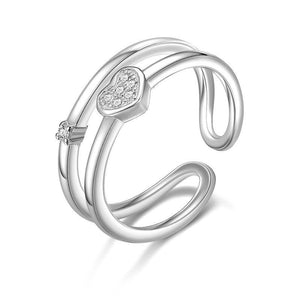 Pure Heart Double Ring