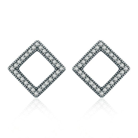 Geometric Square Stud Earrings
