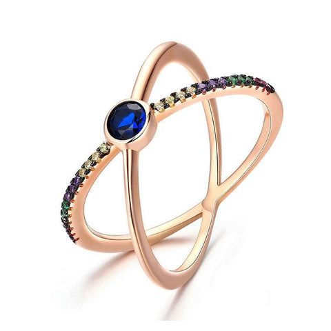 Galaxy Double Layer Ring