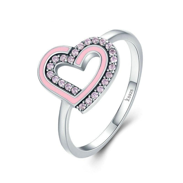Double Heart Pink Ring