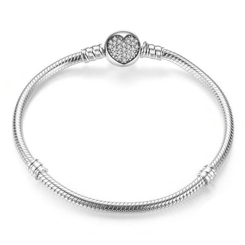 Crystal clear Heart Snake Bracelet