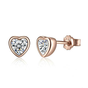 Heart of Golden Roses Stud Earrings