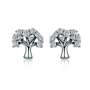 Fancy Tree of Life Stud Earrings