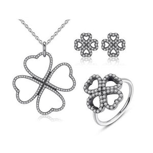Four Hearts Jewelry Set
