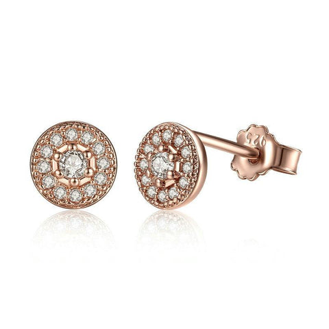 Elegant Circle of Hope Stud Earrings