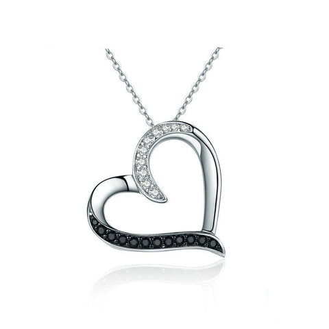 Classy Blackish Heart Necklace