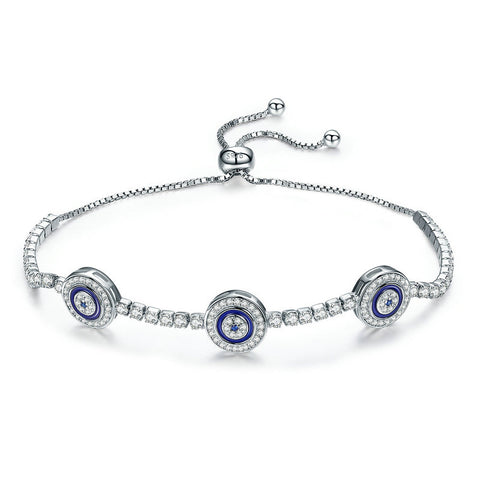 Luxury Round Blue Eyes Chain Bracelet