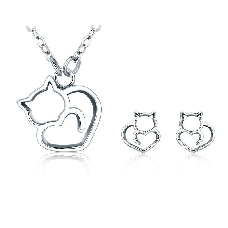 Lovely Cat Jewelry Set
