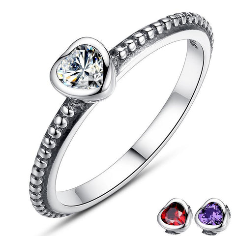 3 Colors Heart Ring