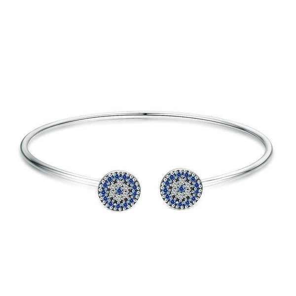 Lucky Blue Eyes Cuff Bracelet