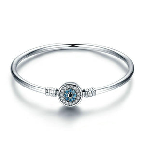 Blue Eye Bangle Bracelet