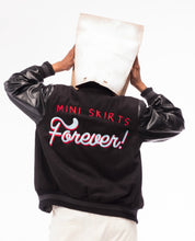 Load image into Gallery viewer, Mini Skirts Forever Varsity Jacket