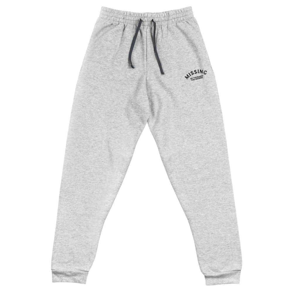 Missing Unisex Joggers- Grey