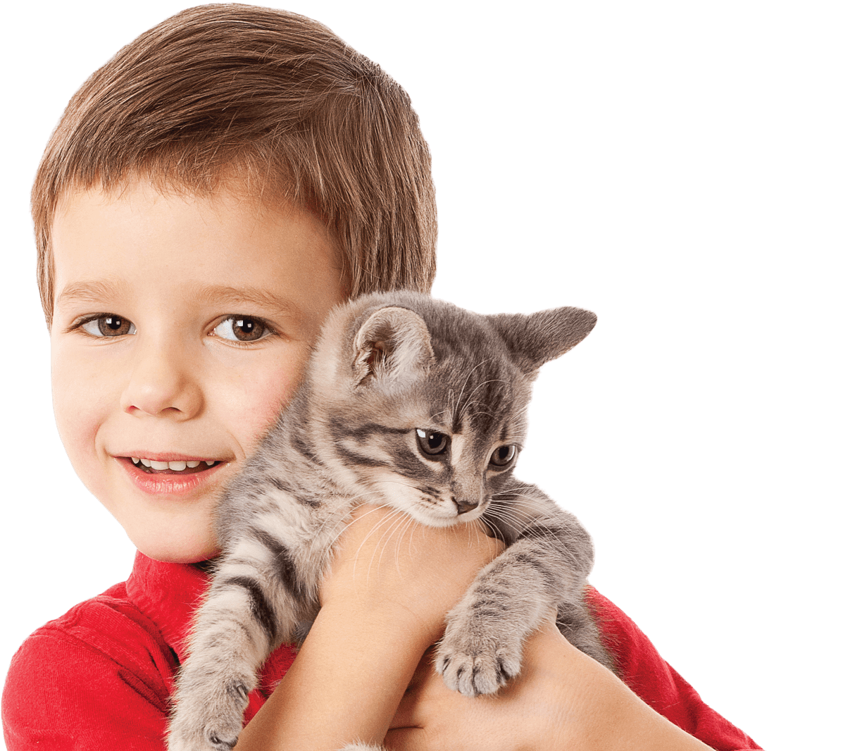 Kid with kitten