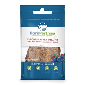 Barkworthies Chicken Jerky Recipe Dog Treat (2pk)